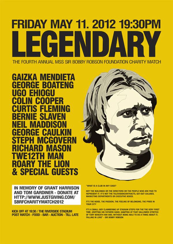 Sir Bobby Robson Charity Match Posters